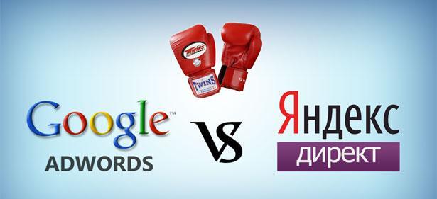 Яндекс директ и google adwords