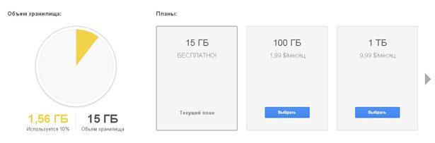 Тарифы гугл диска