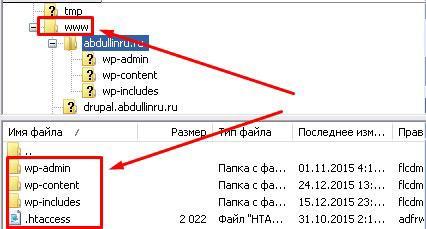 Корень сайта в файлзиле