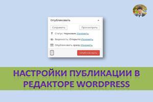 Настройки публикации в редакторе wordpress
