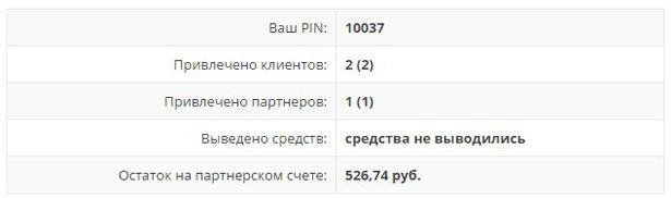 Статистика партнерки в sprinthost