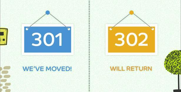 Отличия 301 и 302 редиректа